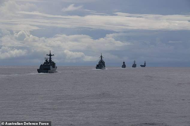 Three navies join US in anti-China Pacific war games